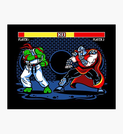 Sewer Fighter Photographic Print