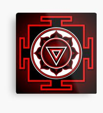 Indisches Symbol von Kali Yantra Metallbild