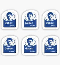 Gaben Inside Intel Sticker (6 Pack) Sticker