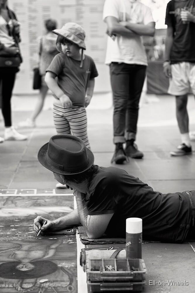 Oooh!! Scary street artist! by Ell-on-Wheels