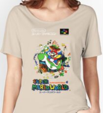 Super Mario World Nintendo Super Famicom Box Art Women's Relaxed Fit T-Shirt