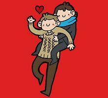 Sherlock & John- Piggyback Unisex T-Shirt