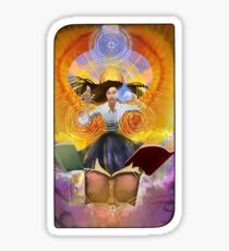 female angel tarot card  Sticker