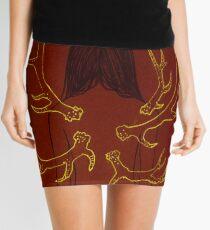 Maroon Metamorphosis Mini Skirt