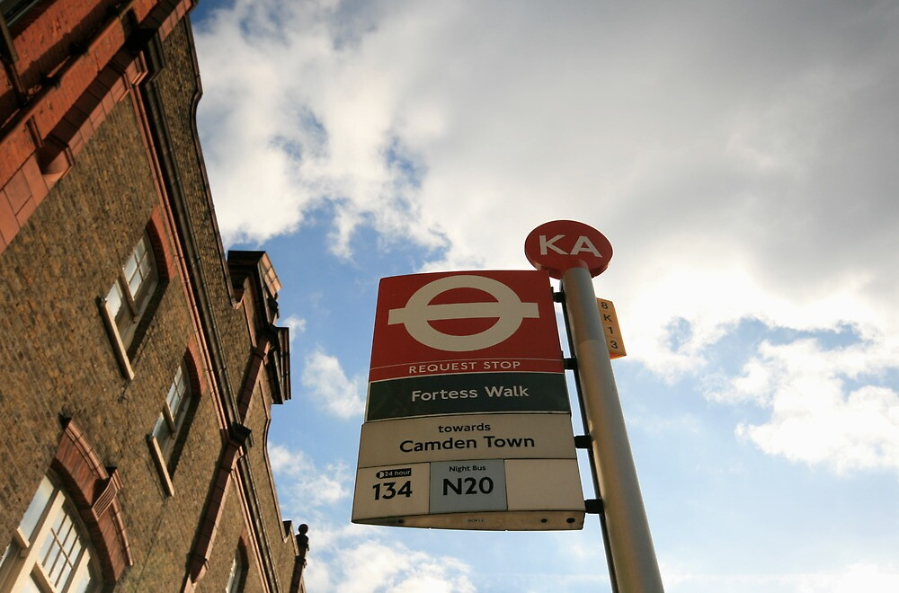 Camden Town Bus Stop by lanesloo