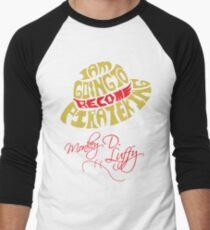 Mugiwara Typography Men's Baseball ¾ T-Shirt