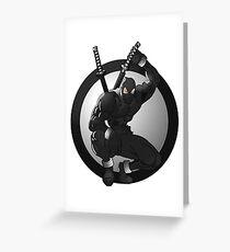 Black Ninja Logo Greeting Card