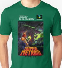 Super Metroid Nintendo Super Famicom Japanese Box Art Shirt (SNES) T-Shirt