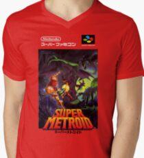 Super Metroid Nintendo Super Famicom Japanese Box Art Shirt (SNES) Men's V-Neck T-Shirt
