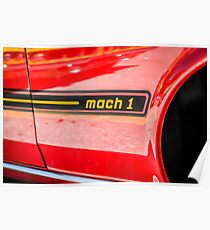 1969 Ford Mustang Mach 1 American Muscle Car Poster