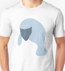 Silly Bearded Manatee Unisex T-Shirt