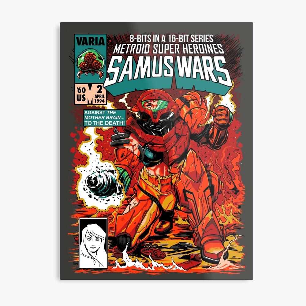 Samus Wars Lámina metálica