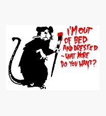 Banksy - Out of Bed Rat Photographic Print