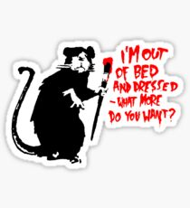Banksy - Out of Bed Rat Sticker
