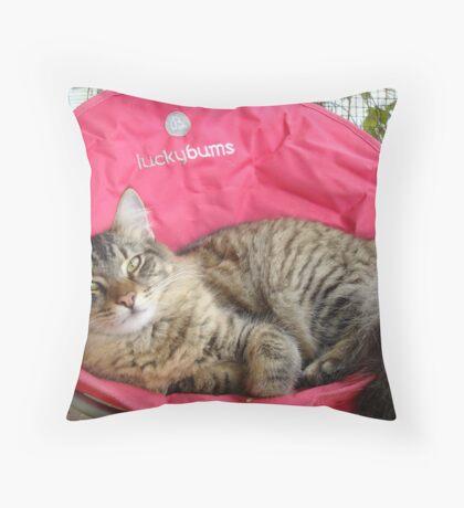 PEARL - MY LUCKY BUM Throw Pillow