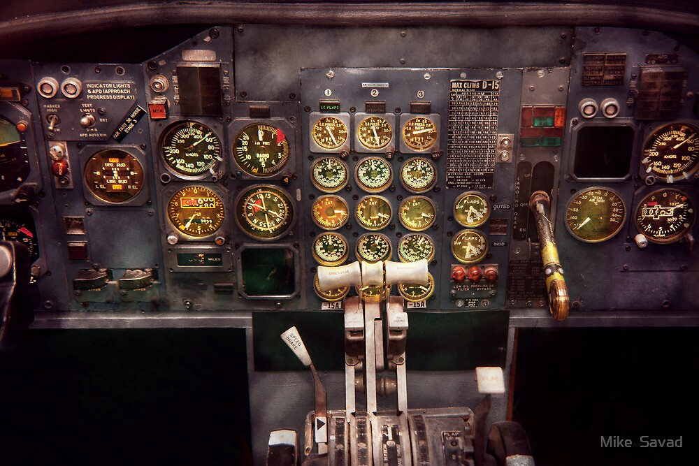 Plane - Cockpit - Boeing 727 - The controls are set by Michael Savad