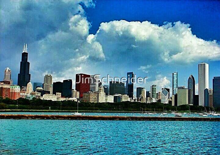 Chicago and Lake Michigan by JimSchneider