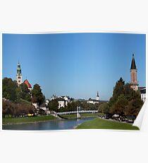 Salzach River View Poster