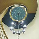 Spiral staircase and painted ceiling, St. Mary of Sorrows by Ray Vaughan