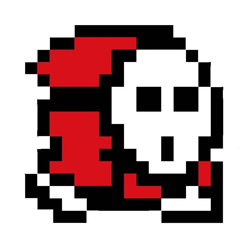 anomaly youtube shy guy 8 bit greeting cards by