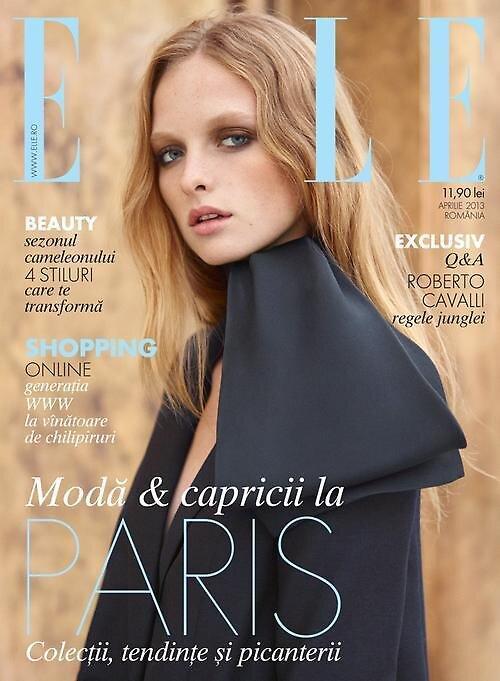 Primodels Review-Elle Romania April 2013 Cover by primodels