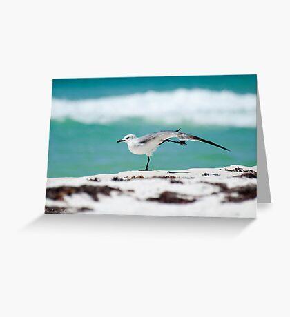 Beach Yoga - 1st Pose Greeting Card