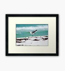 Beach Yoga - 2nd Pose Framed Print