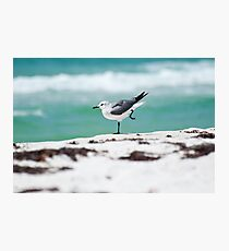 Beach Yoga - 2nd Pose Photographic Print