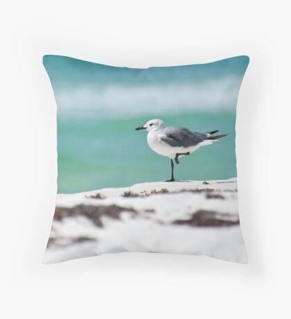 Beach Yoga - Third Pose Throw Pillow