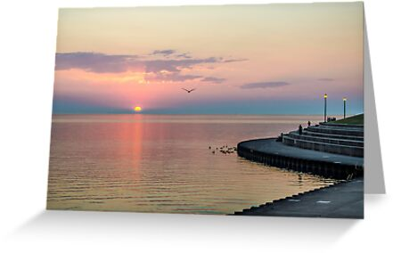 Lake Michigan Sunrise by James Watkins