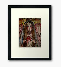 Sorry the colors Framed Print