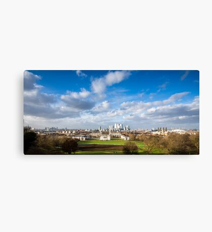 London View from Greenwich Park Canvas Print