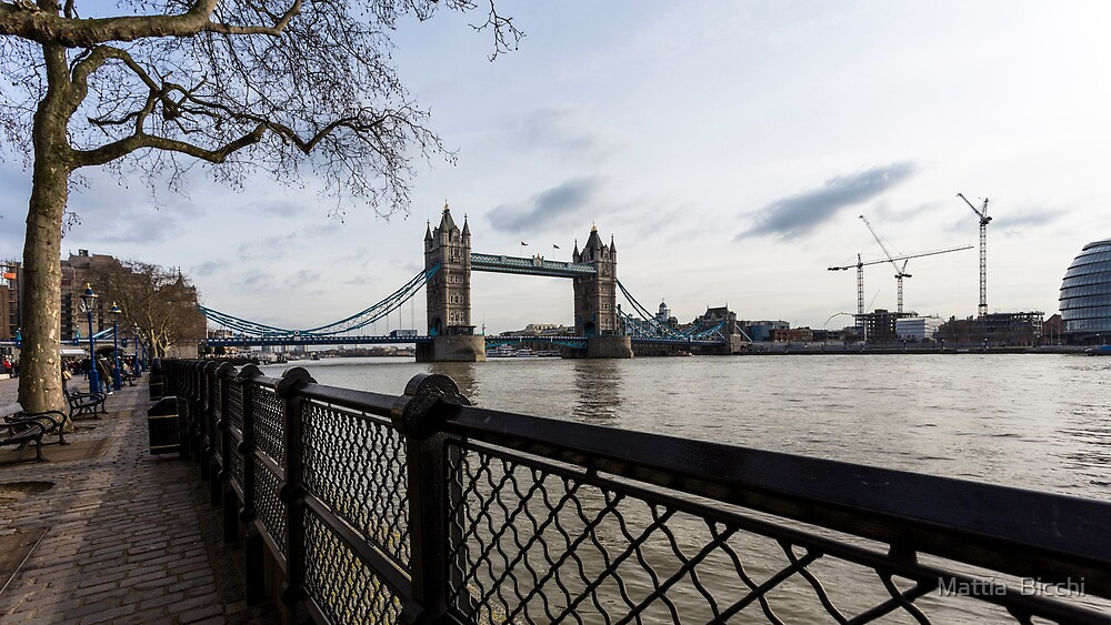 Tower Bridge from River side in the morning by Mattia  Bicchi Photography