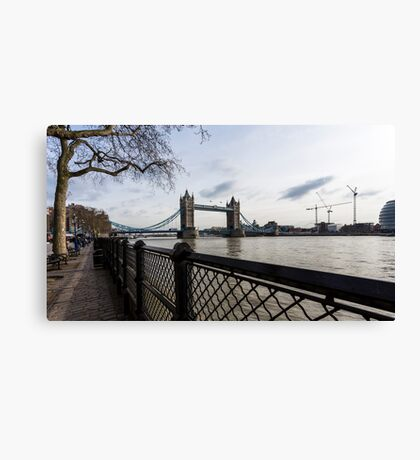 Tower Bridge from River side in the morning Canvas Print