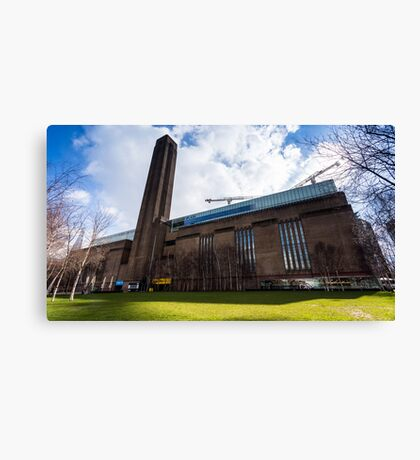 Tate Modern in a Sunny and cloudy day Canvas Print