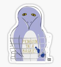 Penguin in a basket Sticker