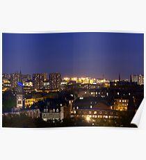 Glasgow West End Skyline Poster