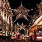Christmas decoration of Oxford Street by Mattia  Bicchi Photography