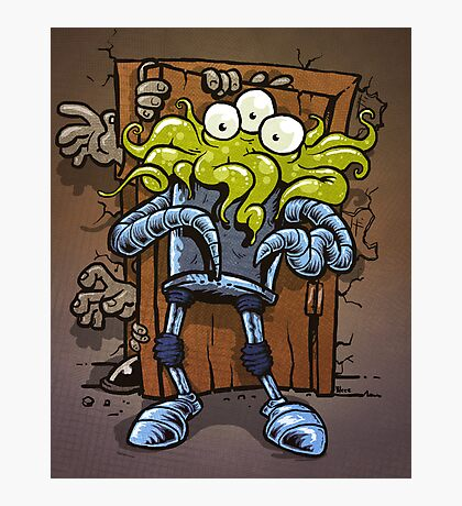 monsters at the door Photographic Print