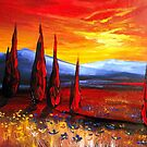 Red Country Sunset by Cherie Roe Dirksen