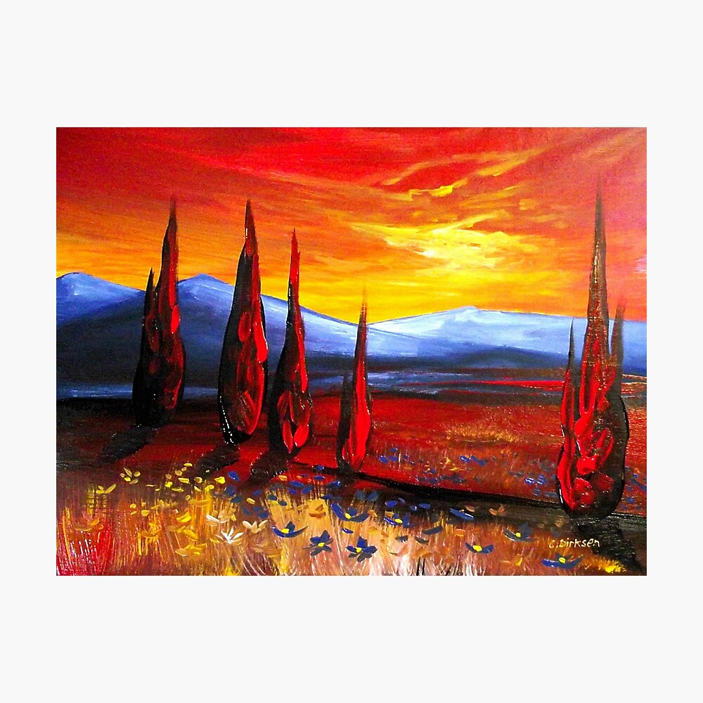 Red Country Sunset Photographic Print