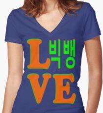 ㋡♥♫Love BigBang K-Pop Clothing & Stickers♪♥㋡ Women's Fitted V-Neck T-Shirt
