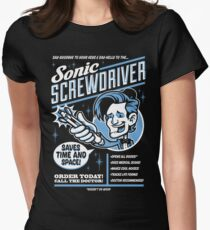 Sonic Screwdriver Ad Womens Fitted T-Shirt