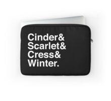 Cinder & Scarlet & Cress & Winter. (inverse) Laptop Sleeve