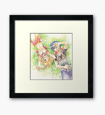 Chrono Cross: Serge and Kidd Framed Print