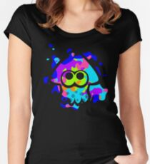 Splatoon Squid Women's Fitted Scoop T-Shirt