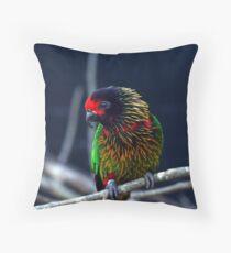 Bird Portait Throw Pillow