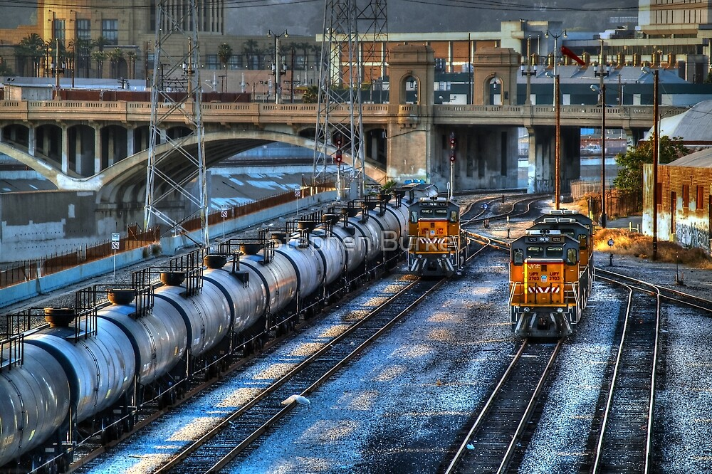 The Rail Yard in Los Angeles by Stephen Burke