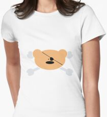 Teddy-Bear Pirate Women's Fitted T-Shirt