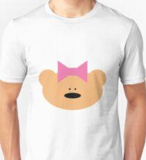 Teddy bear girl with hair ribbon Unisex T-Shirt